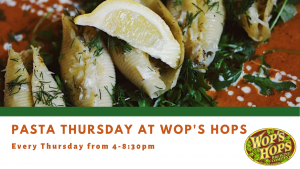 Pasta Thursday: Spring Vegetable Pasta with Short Rib @ Wop's Hops